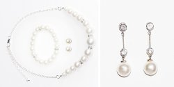 srebrna biżuteria ślubna